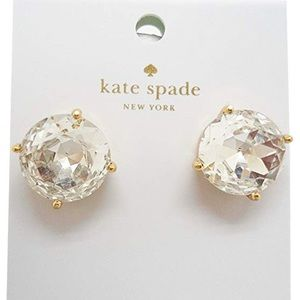 Round Large Gold Stud Earrings